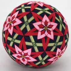temari: nuova tecnica....usando una palla di poistirolo in vendita nelle mercerie come pure i fili....questo mi fa impazzire da quanto è bello. ;-)
