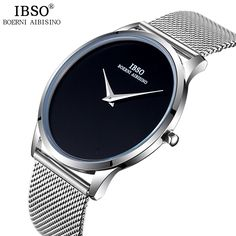 13f7ffa618d IBSO New 2017 Brand Fashion Mens Watches Stainless Steel Mesh Strap Simple  Style Sport Business Watch Men Relogio Masculino - Nice Trend Store