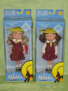 Madeline-2-Friends-lot-Nona-and-Danielle-2002-Learning-Curve-new-in-box