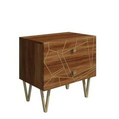 Buy Halo 2 Drawer Bedside Table with Brass Inlay in Natural Honey from - the UK's leading online furniture and bed store Natural Honey, Natural Wood, Bedroom Crafts, Bedroom Decor, Online Furniture, Furniture Making, Halo 2, Modern Industrial, Beautiful Bedrooms