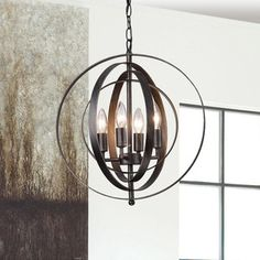 Shop for Benita Antique Black Iron 4-light Orb Chandelier. Get free shipping at Overstock.com - Your Online Home Decor Outlet Store! Get 5% in rewards with Club O!