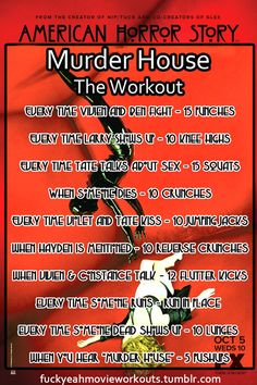 """A workout for Season 1.  """"American Horror Story"""""""