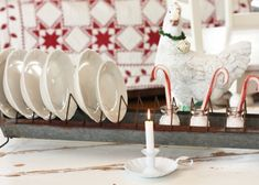 My chicken feeder dolled up for Christmas. From Sugar Pie Farmhouse Christmas home tour