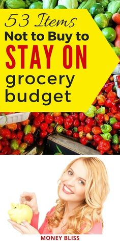 Learn how to grocery shop on a budget. Save money by not buying these items. These grocery money saving tips will save you thousands. These frugal living tips work for one, for two, or for family. Your family will improve your budget and live below your means with these frugal living tips. #grocerybudget #shop #moneybliss Save Money On Groceries, Ways To Save Money, Saving Ideas, Money Saving Tips, Save Yourself, Improve Yourself, Living Below Your Means, Frugal Living Tips, Budgeting Money