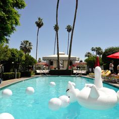 Glamorous Pool floats at the Viceroy Hotel in Palm Springs. April, 2014.