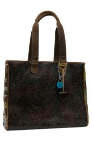 Consuela® Couture Tuscany Tooled with Floral Print Grande Tote   Cavender's