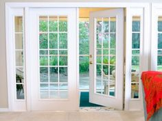 Investigate your options for French patio doors, and browse great pictures from HGTV.