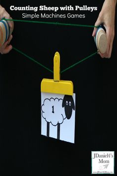Simple Machines Games- Counting Sheep with Pulleys - Flaschenzug Ideen Printable Activities For Kids, Kids Learning Activities, Preschool Science, Science Activities, Number Activities, Science Fun, Science Ideas, Teaching Science, Teaching Tips