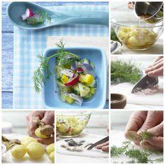 Ein gesunder Sattmacher: Bunter Kartoffel-Hering-Salat mit Senf-Dill-Dressing | http://eatsmarter.de/rezepte/bunter-kartoffel-hering-salat