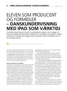 Læs min artikel om eleven som producent i Dansklærerforeningens blad Digital dannelse - Digitalt danskfag