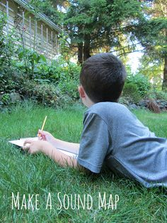 Great ideas for outdoor math and science for kids...