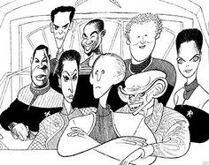 AL HIRSCHFELD'S  Star Trek