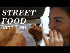 ▶ Street Food VIETNAM - EUROPEAN GIRL eats BANH TIEU - YouTube