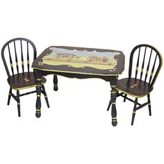 Adorable! Vintage Circus Table and Chair Set from PoshTots
