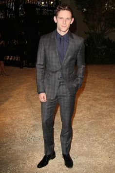 However it wasn't just Americans in attendance. Representing for Britain: Jamie Bell in this trim-tailored check suit, tempered with a tonal shirt and tie. Flags Of Our Fathers, Jamie Bell, Billy Elliot, Most Stylish Men, Gq Magazine, Jane Eyre, Attendance, King Kong, Best Actor