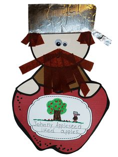 Johnny Appleseed Craftivity - from my Johnny Appleseed Pack (template included)