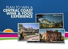 Win a Central Coast Wine & Food Experience Central Coast, Wine Recipes, How To Plan, Life, Food, Meal, Essen, Hoods, Meals