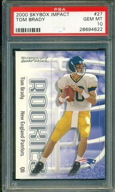 3e123a29953 2000 Skybox Impact Rookie Tom Brady RC - Card - New England Patriots Rare.