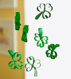 Swinging Shamrocks: To really go green this Saint Patrick's Day, make these ecofriendly symbols of Ireland.