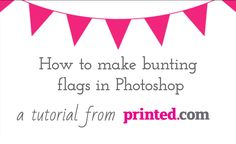 Wedding collection: http://www.printed.com/products/98/wedding-collection Add festive bunting to your invitations and stationery designs using this quick tec...