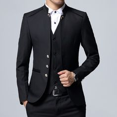 Black Formal Suit Men Blazer Jackets and Pants Fashion Business Mens Suits Size Wedding Suits for Man 2019 suits men 2019 Mens Fashion Suits, Fashion Pants, Fashion Wear, Womens Fashion, Terno Slim, Cheap Suits, Manuel Ritz, Designer Suits For Men, Slim Fit Jackets