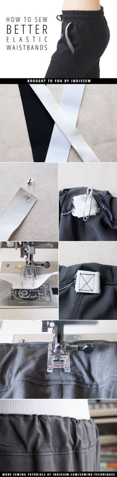 Do you struggle with elastic waistbands that twist inside their casings? Read this post to learn some handy tricks for picture perfect waistbands. | Indiesew.com
