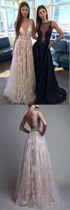 Champagne Prom Dress, A Line Prom Dress, V-neck Evening Dress, Sexy Party Dress, Long Formal Dress 0818 Nude Prom Dresses, A Line Prom Dresses, Formal Evening Dresses, Dance Dresses, Sexy Dresses, Dress Formal, Formal Prom, Dress Prom, Prom Gowns