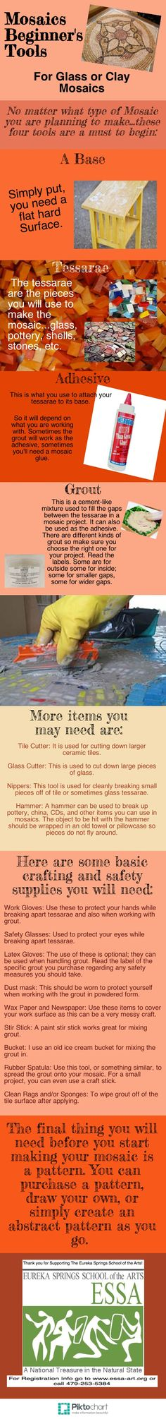 Basic Tools for the Mosaic Artist  http://www.pinterest.com/shotsigirl/mosaic-tutorials/