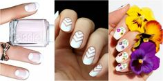 Check out these white manicure ideas which prove that white nails can be more fun than a French tips. White Manicure, White Nail Art, White Nails, Beauty Nails, Beauty Skin, Lcn Nails, Pretty Designs, Creative Nails, Timeless Beauty