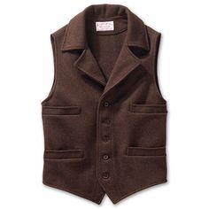 www.Filson.com | Filson Mackinaw Wool Western Vest - Classic western cut vest with rugged Mackinaw Wool warmth...yup, hubby has this one too!