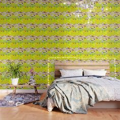 #society6 Our peel and stick Wallpaper is easy to apply and take off, leaving no adhesive residue. Featuring sharp, vibrant images, Wallpaper patterns are ideal for accent walls, flat surfaces and temporary installations (like parties!). Available in three floor-to-ceiling sizes.