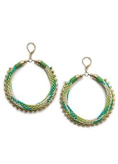 woven hoop earrings