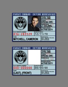 Stargate Command ID Badge by SilentArmageddon on DeviantArt
