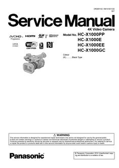 Panasonic HC V180 V180K Full HD Camcorder original service