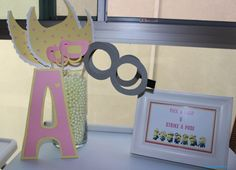 minion baby shower photo booth props