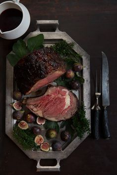Standing Rib Roast with Port Fig Glaze | http://saltandwind.com