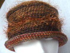 Crochet Hat Bucket Rolled Brim Eyelash Mohair by theknittinfool