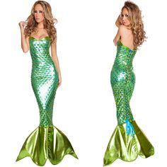 Fantasia Adult Mermaid Costume pretty mermaid tail costume Halloween costumes For party Adult New Dress Mermaid Costumes
