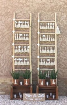 tassel and wood seatting plan for a boho wedding in marrakech candles, rosemary, plan de table bohem Tipi Wedding, Boho Wedding Decorations, Table Decorations, Wedding Ceremony, Marrakech, Wedding Trends, Wedding Styles, Wedding Ideas, Wedding Table Seating