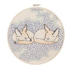How Foxes Dreamed the World Embroidery Kit
