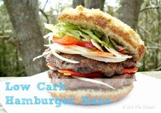 Hamburger Buns (Low Carb & Gluten Free) - Replace raw honey with your favorite sugar free sweetener. Clean Recipes, Paleo Recipes, Low Carb Recipes, Real Food Recipes, Free Recipes, Gluten Free Hamburger Buns, Lchf, Healthy Food List, Healthy Eating
