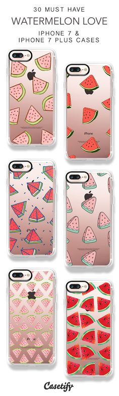 35 Must Have Watermelon Love iPhone 7 Cases and iPhone 7 Plus Cases. More Watermelon iPhone case here > https://www.casetify.com/collections/top_100_designs#/?vc=V1i0V9UL06