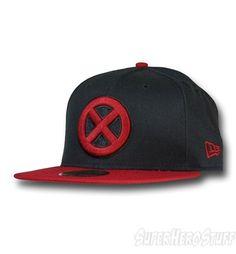 a44b2d0deca X-Men Symbol Red Bill Black 59Fifty Cap