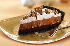Fudge-Bottom Candy Crunch Pie Recipe