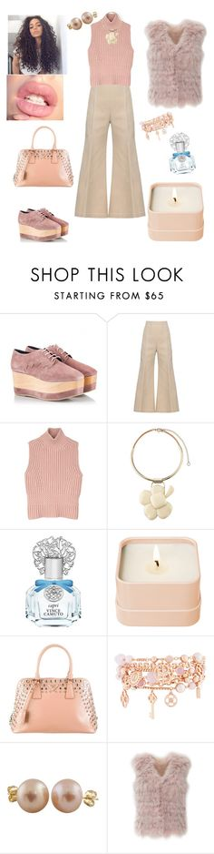 """pink wedge lady"" by prettycarole ❤ liked on Polyvore featuring Paloma Barceló, Acne Studios, Diesel Black Gold, Marni, Vince Camuto, Henri Bendel, Prada, Splendid Pearls and Adrienne Landau"