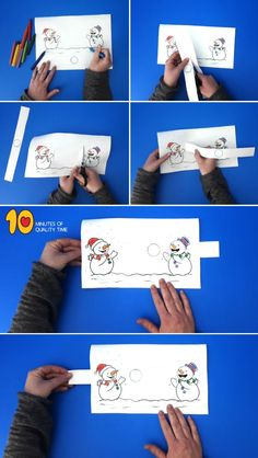 Snowmen playing with a snowball, forchildren . - - Snowmen playing with a snowball, forchildren . Winter Art Projects, Winter Crafts For Kids, Winter Kids, Art For Kids, Winter Sport, Craft Projects, Fun Activities For Kids, Winter Activities, Snowman Crafts