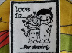 Love is .... wonderful patches from the 70s,