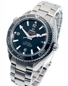 The special Titanium Omega Seamaster Planet Ocean which was worn by Daniel Craig during the filming of in SkyFall and is auctioned at Christie's