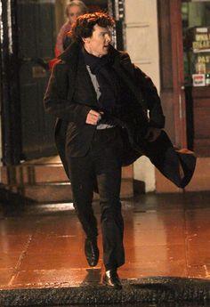 "Benedict Cumberbatch And Martin Freeman Film ""Sherlock"""