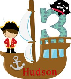 Personalized  Pirate Birthday Iron On Shirt by cuppycakedesigns, $6.00